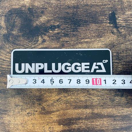 送料無料 UNPLUGGED CP アルミロゴプレート 横12cm×高4.3cm 粘着テープ貼りつけ
