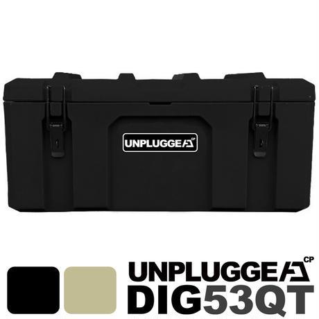 耐荷重90,g 防水 保証180日 50L ツールボックス DIG (ディグ) アンプラグドキャンプ UNPLUGGED CP