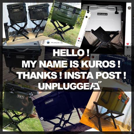 予約者限定価格 11月中旬入荷予定   アンプラグドキャンプ ブラック クーラースタンド クロス for 25/35/45QT UNPLUGGED CP KUROS