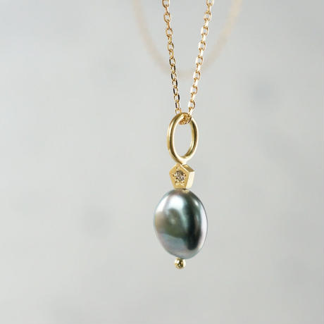 Tahitian pearl necklace/polygon/dia/small
