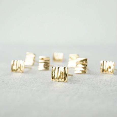 K18 Plate earrings