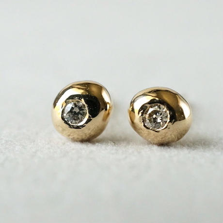 K18 Tsubu earrings / Diamond