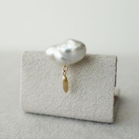Tahitian pearl earring / Dagger / Fringe / Large  *Single