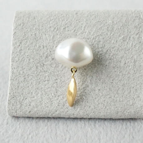 Freshwater pearl earring / Dagger / Fringe  *Single