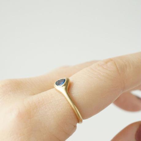 K18 Sapphire ring/drop/blue