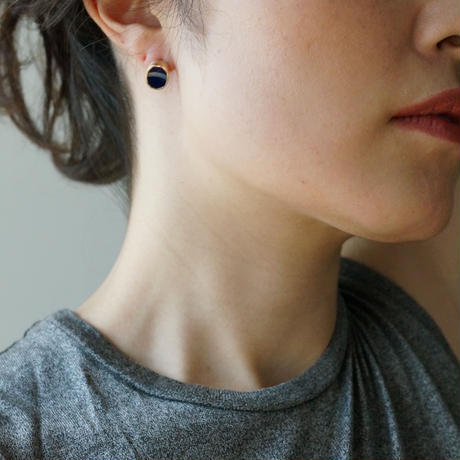 K10 Vintage tile earring / Deep blue  *Single