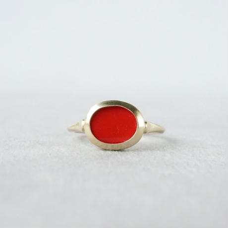 K10 Vintage tile Ring / Red