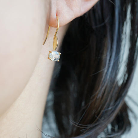 Sapphire earrings / Hook / oval x drop