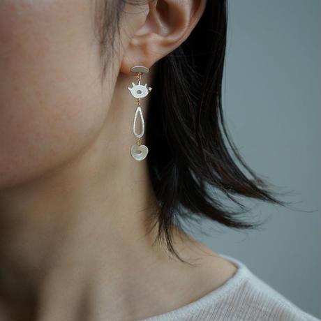 Face earring  *Single / Left