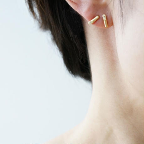 K18 Twig earrings / Diamond