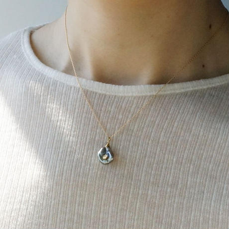 Tahitian pearl necklace / Cone / Dia