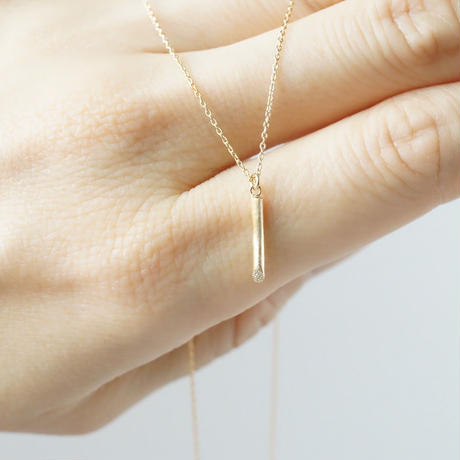 K18 Twig Necklace / Diamond