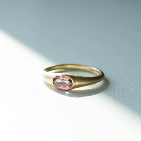 K18 Sapphire ring/oval/red