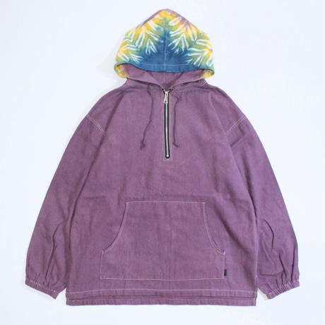 A HOPE HEMP × JAVARA「SNOW DROP HALF ZIP HOOD JKT(PURPLE)」