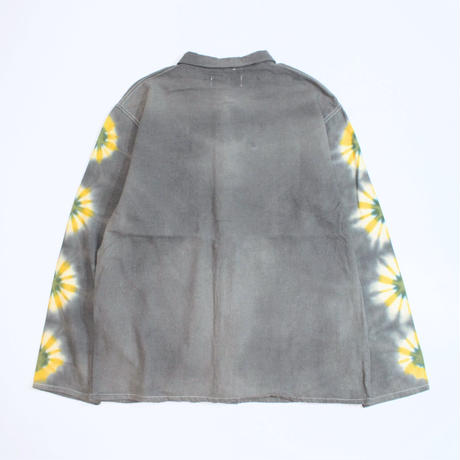 "A HOPE HEMP × JAVARA ""FLOWER LINE""  FLY FRONT SHIRTS JKT(GRAY)"