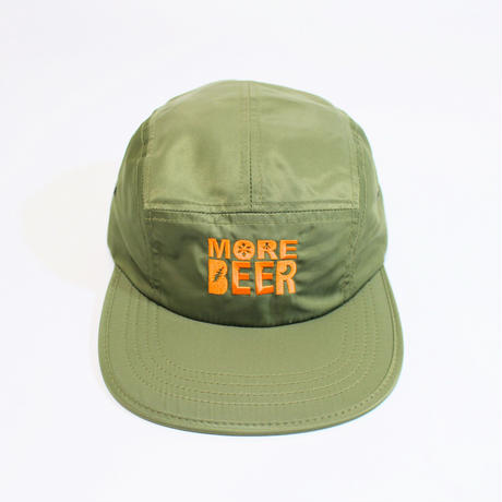 MORE BEER「CLASSIC LOGO MA-1 CAP(OLIVE)」