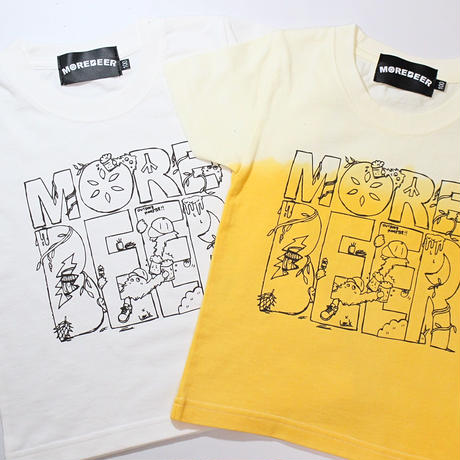 MORE BEER × Lock LOGO KID'S TEE(AURORA)