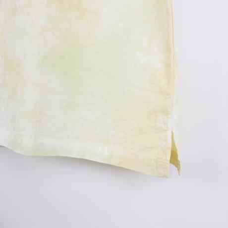 A HOPE HEMP × JAVARA「MARBLE 開襟シャツ(GREEN&ORANGE)」