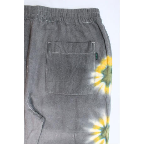 A HOPE HEMP × JAVARA「FLOWER LINE BAKER EASY PANTS(GRAY)」