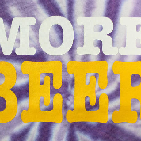 MORE BEER TYPE2 LOGO KID'S TEE(PURPLE RASEN)