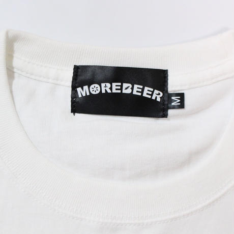 MORE BEER × Lock LOGO TEE(WHITE)