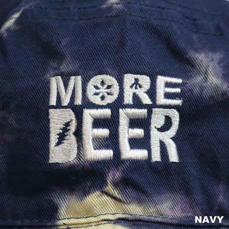 MORE BEER LOGO BUCKET HAT (MARBLE BLEACH)