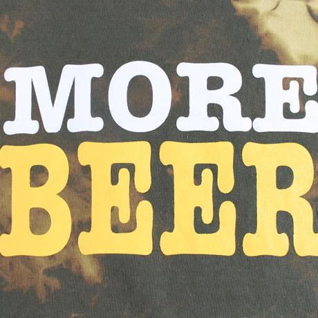 MORE BEER「BIG LOGO TEE(KHAKI MARBLE)」