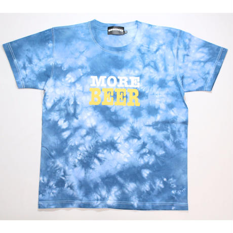 MORE BEER TYPE2 LOGO TEE(OCEAN MARBLE)