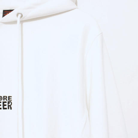 MORE BEER  SQUARE LOGO PARKA (WHITE)