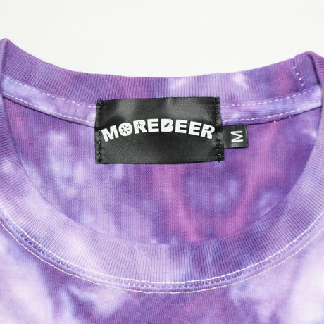 MORE BEER TYPE2 LOGO TEE(PURPLE RASEN)