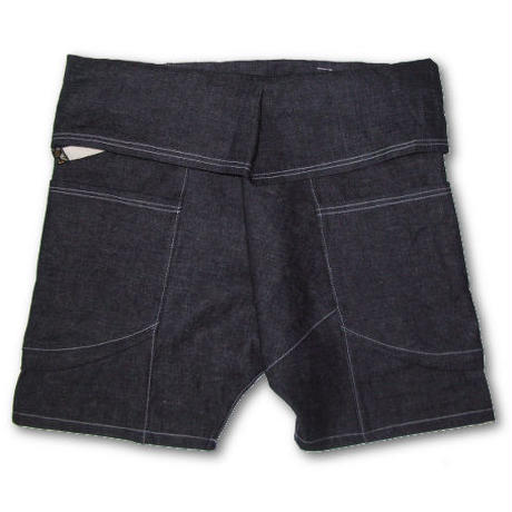 "JAVARA ""HEMP DENIM THAI SHORTS"""