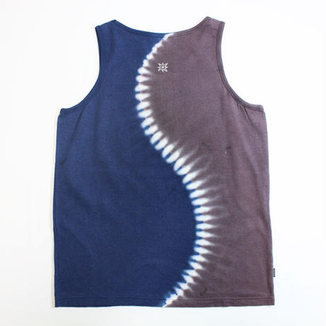 "JAVARA ""S"" TANK TOP (NAVY&BROWN)"
