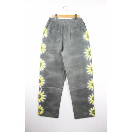 A HOPE HEMP × JAVARA「FLOWER LINE BAKER EASY PANTS(GRAY)」