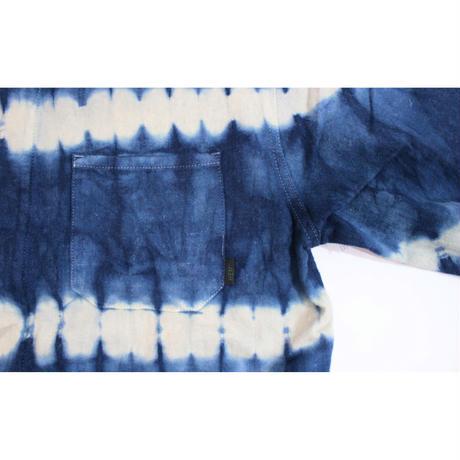 A HOPE HEMP × JAVARA「BORDER FLY FRONT SHIRTS JKT(INDIDO)」