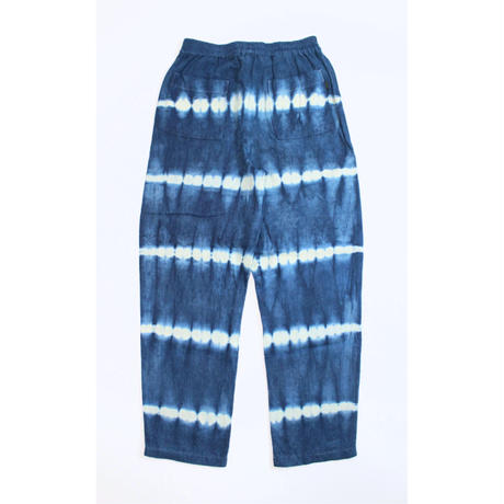 "A HOPE HEMP × JAVARA ""BORDER""  BAKER EASY PANTS(INDIGO)"