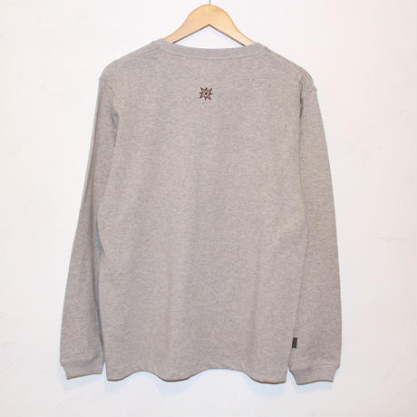 "JAVARA ""MORE BEER PKT"" L/S (GRAY)"