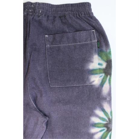 A HOPE HEMP × JAVARA「FLOWER LINE BAKER EASY PANTS(PURPLE)」