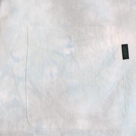 A HOPE HEMP × JAVARA「TIE DYE 開襟シャツ(GRAY×MINT)」