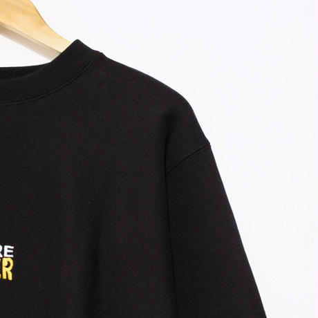 "JAVARA ""MORE BEER"" SQUARE LOGO SWEAT (BLACK)"