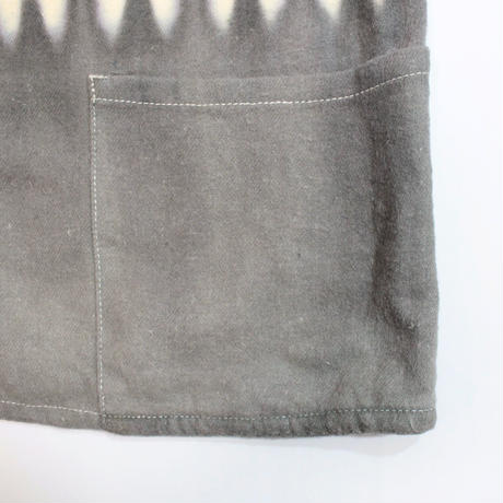 A HOPE HEMP × JAVARA「BORDER FLY FRONT SHIRTS JKT(GRAY)」