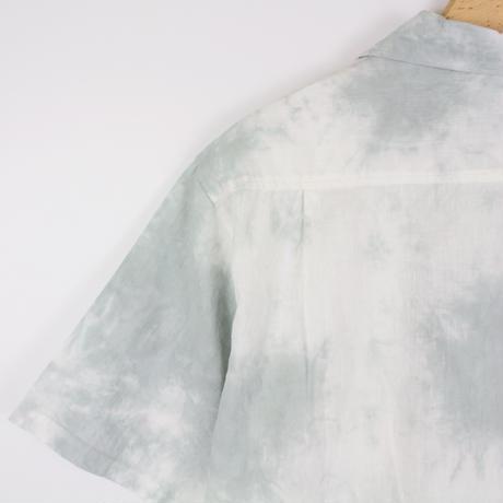 A HOPE HEMP × JAVARA「MARBLE 開襟シャツ(GRAY)」