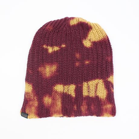 JAVARA「TIE DYE SABOTAGE CAP(BURGANDY)」