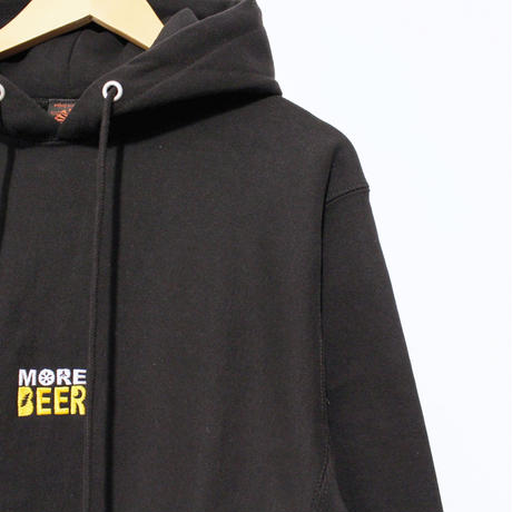 "JAVARA ""MORE BEER"" SQUARE LOGO PARKA (BLACK)"