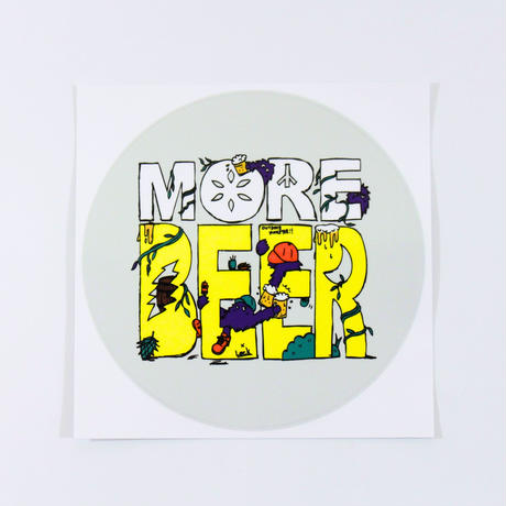 MORE BEER × Lock ロゴステッカー