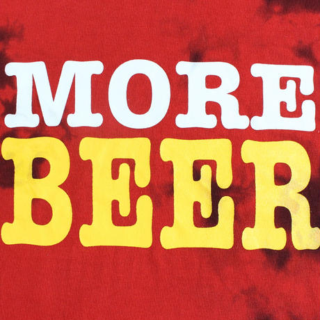 MORE BEER TYPE2 LOGO TEE(RED×BLACK MARBLE)