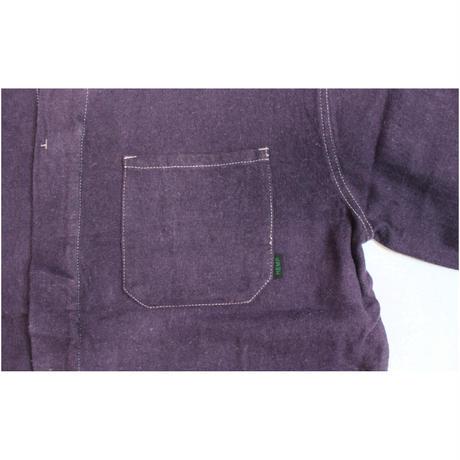 A HOPE HEMP × JAVARA「HEMP LINE FLY FRONT SHIRTS JKT(PURPLE)」