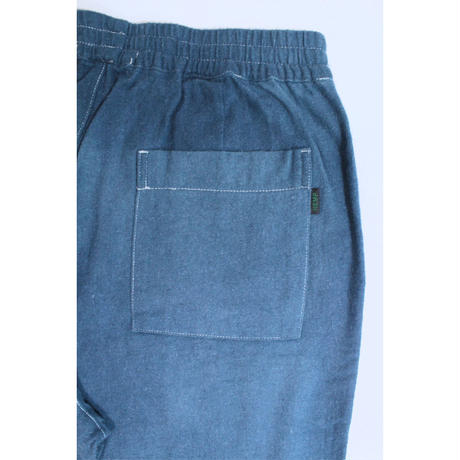 "A HOPE HEMP × JAVARA ""ONE COLOR""  BAKER EASY PANTS(NAVY)"