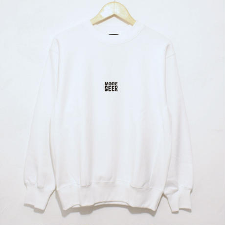 MORE BEER  SQUARE LOGO SWEAT (WHITE)