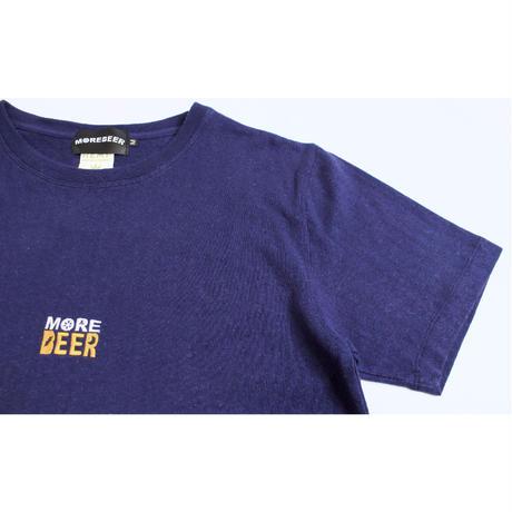 MORE BEER「CLASSIC LOGO HEMP TEE (NAVY)」