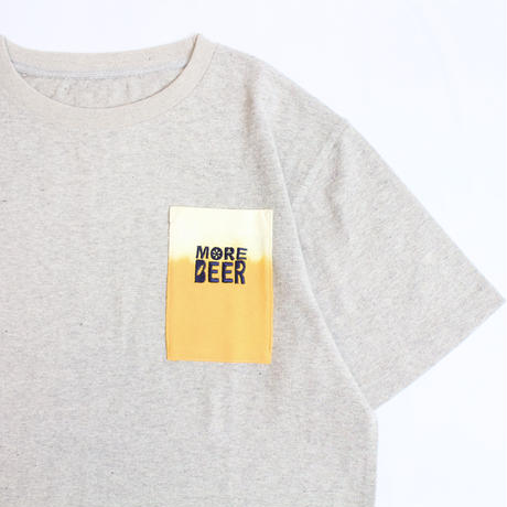 MORE BEER「POCKET S/S (GRAY)」